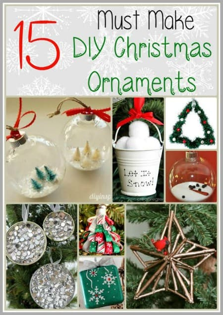 If you're looking for some gift ideas (or just a fun craft to work on for your Christmas tree), check out these 15 ideas for DIY Christmas Ornaments.