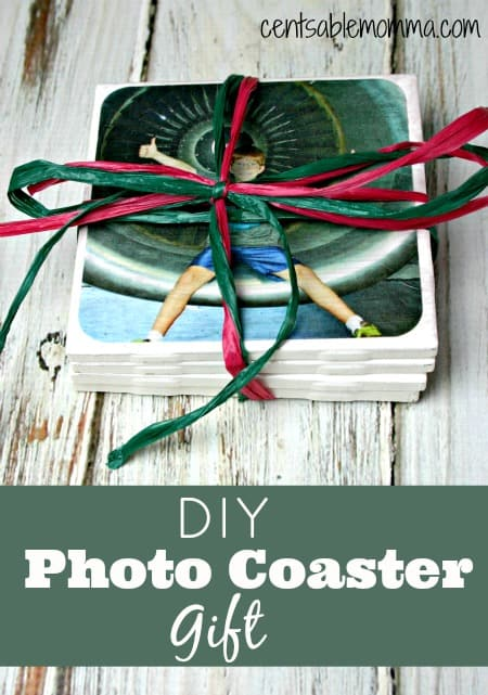 If you're looking for an inexpensive, but easy DIY gift for Christmas, Mother's or Father's Day, or even just a birthday gift, these DIY Photo Coasters are perfect. I made 4 of them in minutes for just a couple of dollars.