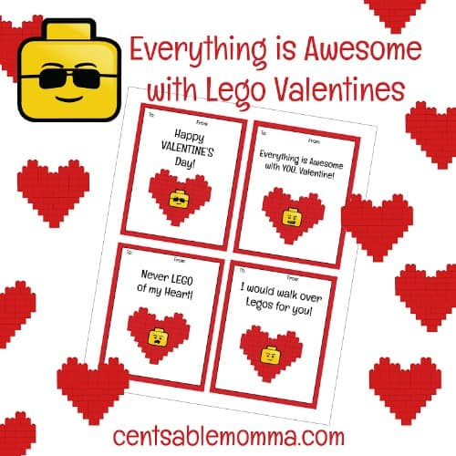 graphic relating to Lego Font Printable identify No cost Printable LEGO Valentines Working day Playing cards - Centsable Momma