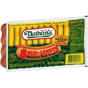 graphic about Nathans Printable Coupons referred to as Printable Coupon: $1/2 Nathans Renowned Beef Franks + Walmart
