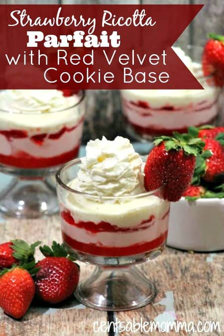 Strawberry Ricotta Parfait with Red Velvet Cookie Base Recipe