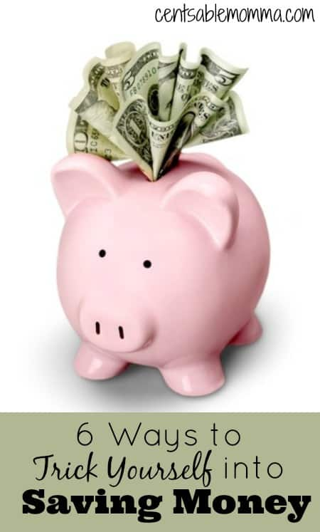 Do you have trouble saving money?  Check out these 6 ways that you can trick yourself into saving money to put into a savings account.