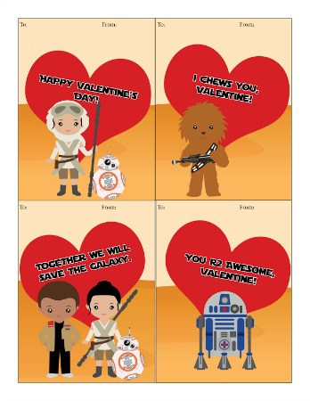 Free Printable Star Wars Valentine S Day Cards Centsable Momma