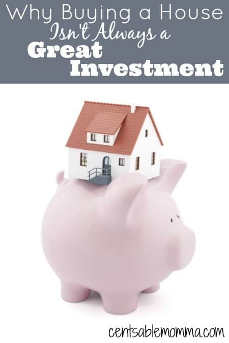 Do you own a home or are you thinking about buying a house?  Find out why buying a house isn't always a great investment based on our experience selling our home during the housing market downturn in 2012.