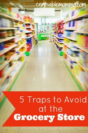 Do you feel like you're always spending too much money on food?  If so, check out these 5 traps to avoid at the grocery store to help you save money on groceries.