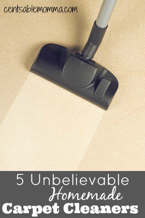 5 Unbelievable Homemade Carpet Cleaners
