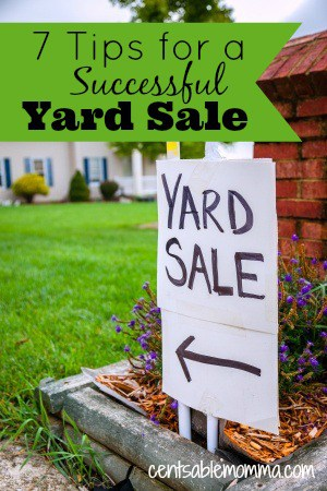 Are you planning on having a yard or garage sale?  Be sure to check out these 7 tips for a successfull yard sale to help you have a good one.