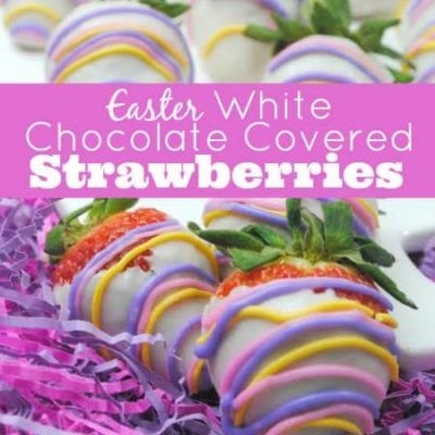 Easter White Chocolate Covered Strawberries
