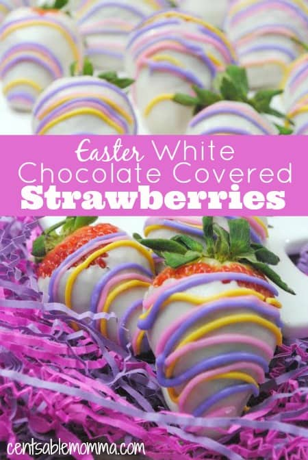 Do you love chocolate covered strawberries?  Now, you can make chocolate covered strawberries dipped in white Ghirardelli chocolate and glazed with royal icing in spring colors - perfect for Easter for spring!