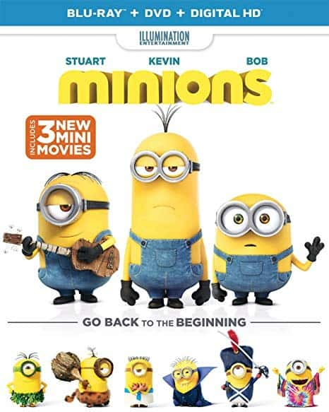 Minions Blu-ray/DVD Combo: $3.99 (56% off) + FREE Shipping