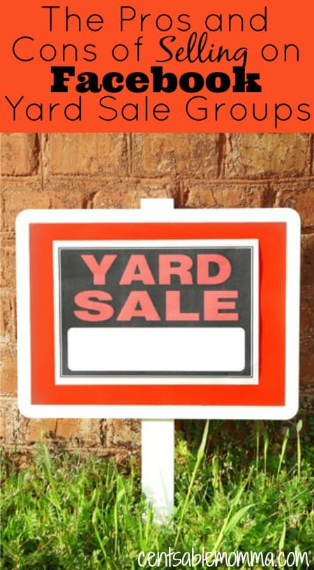 Have you decluttered your home and have some stuff that you want to sell to earn some extra money?  Check out these pros and cons of selling on Facebook Yard Sale groups to decide if you want to list your items for sale.