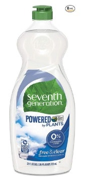Seventh Generation Dish Liquid (25 oz. 6 pk.): $2.22/bottle + FREE Shipping