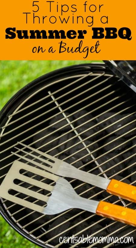 Summer time means lots of barbeques! Check out these 5 tips for throwing a summer barbeque on a budget so you have have a party for friends and family without breaking the bank.