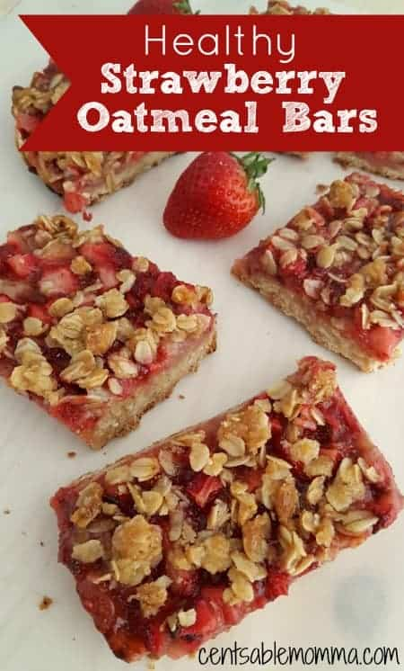 If you're looking for an easy and healthy snack, you'll love this Healthy Strawberry Oatmeal Bars recipe. If you don't like strawberries, you can substitute with your favorite fruit.