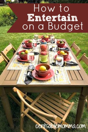 If you love to entertain but you don't have tons of money to spend, check out these 5 tips for how to entertain on a budget with a few ideas to save money and still have fun.