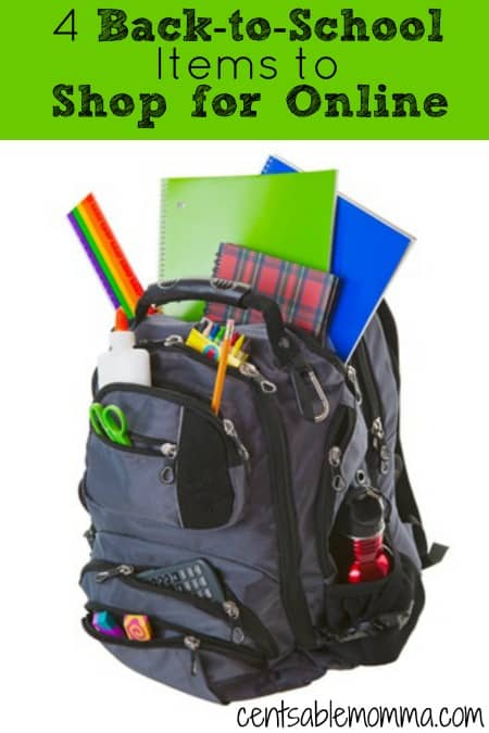During Back-to-School shopping, you may feel like you're running around everywhere trying to find school supplies and clothing.  You can save time and money by shopping for these 4 back-to-school items online.