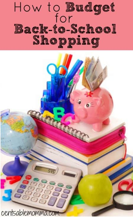 Shopping for school supplies and clothing can be expensive!  Check out these 4 tips to help you come up with a cash budget to spend on Back-to-School shopping.