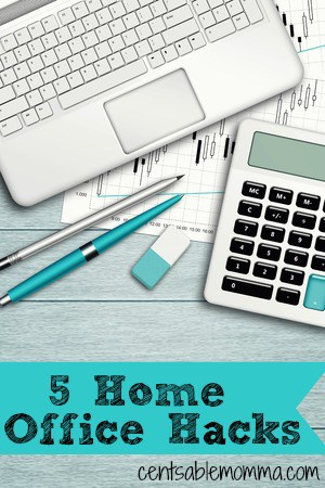 You don't need to spend a fortune to organize your home office.  Try these 5 Home Office Hacks for tips on how to organize your home office with items you likely already have to save money.