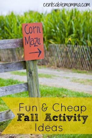 Fun & Cheap Fall Activity Ideas