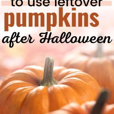 5 Ways to Use Leftover Pumpkins after Halloween
