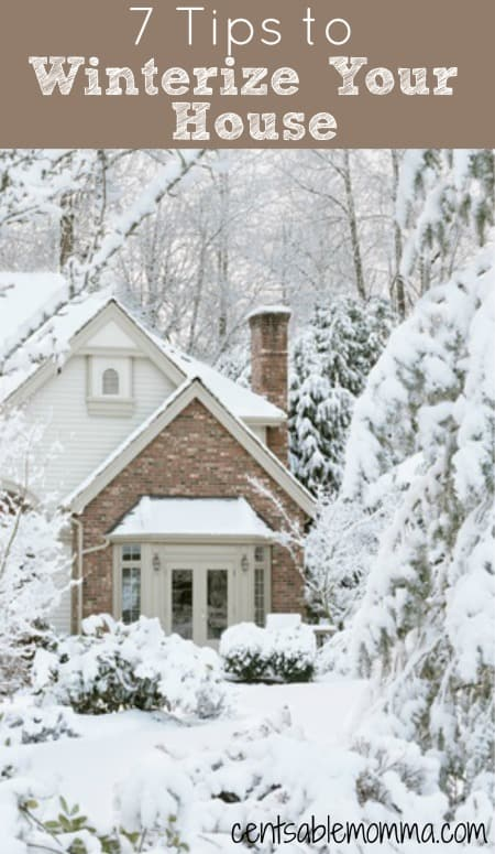 The cold weather of winter is coming soon! You can get your house ready for the cold weather and save money on your heating bill with these 7 tips to winterize your house.