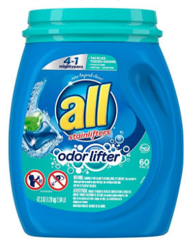All Mighty Pacs Laundry Detergent (60 ct.): $7.49