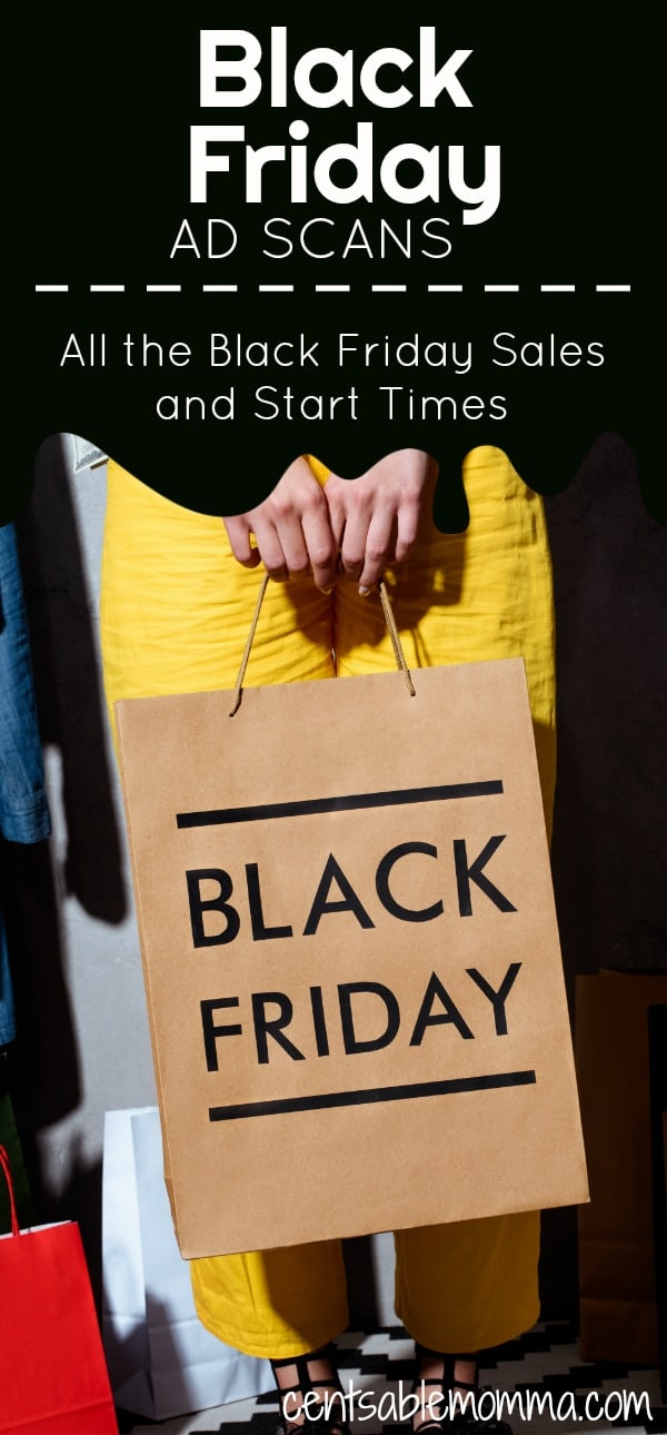 Want to get a head start on your Black Friday shopping by getting organized with the best deals of the year? Check out all the Black Friday ad scans that have been released so far as well as the start times for each sale. #blackfriday #blackfridaydeals #deals