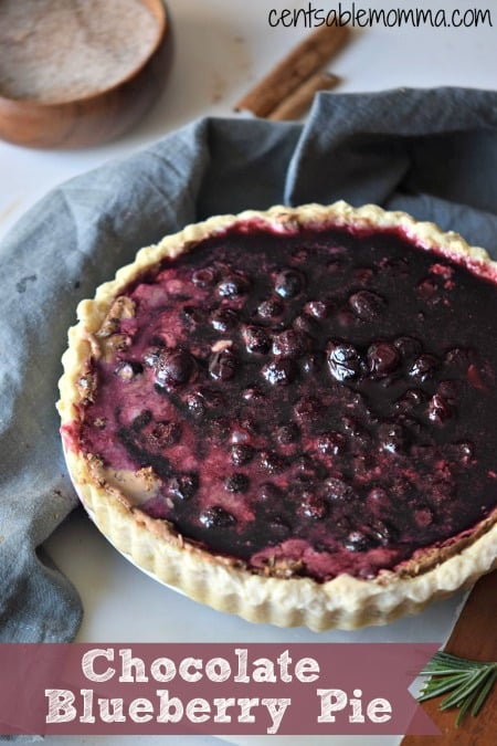 With a blend of chocolate and blueberries, this Chocolate Blueberry pie recipe is sure to impress. It would be perfect for a holiday dessert, when you have leftover blueberries during the summer picking season, or just because...