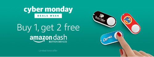 Amazon Dash Button: B1G2 FREE and Get $4.99 Credit after First Press