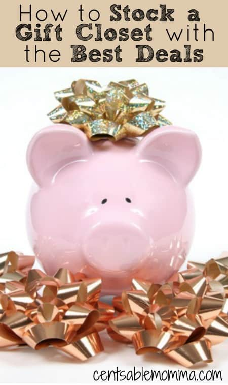 Having a gift closet with readily available gifts for all occasions available is a great way to save time and money on gifts. Check out these 5 tips for saving money when you're stocking your gift closet.