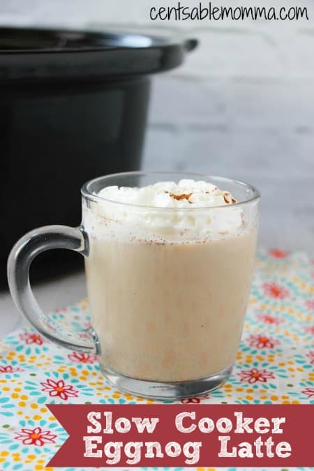 Make the holidays festive with this Slow Cooker Eggnog Latte recipe. It's perfect for a holiday party since it will stay hot all night in your crockpot. Or you can make up a batch, refrigerate it, and heat it again for later.