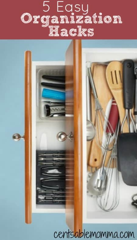 As you're getting your house organized and decluttered, you'll want to try out these 5 easy organization hacks to organize your belongings like a pro.