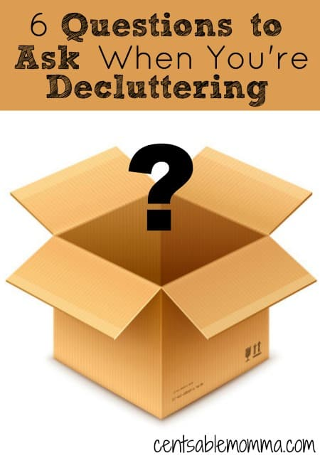 If you are getting overwhelmed with the sheer amount of volume of clutter, you can ask yourself these 6 questions when you're decluttering to make the process easier.
