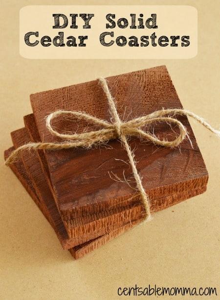 DIY Solid Cedar Coasters