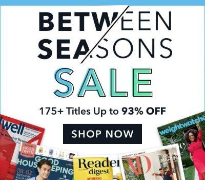 January Magazine Sale