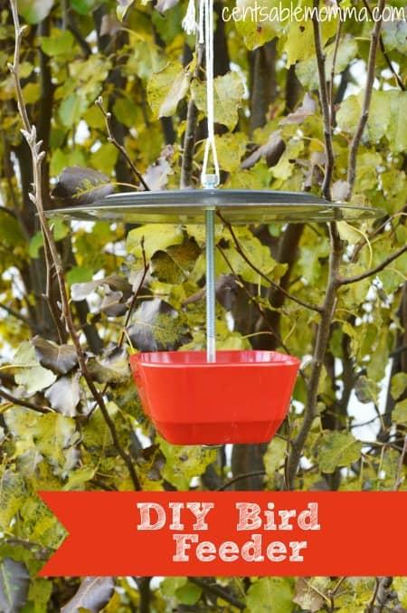 DIY Plate and Bowl Bird Feeder