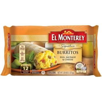 Printable Coupon: $1 off El Monterey Breakfast Burritos + Walmart Deal