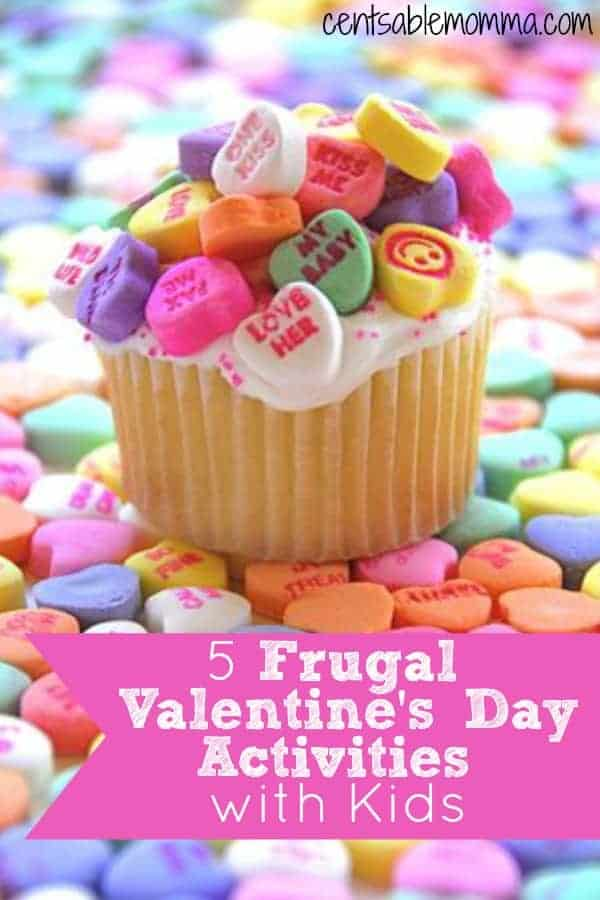 Make Valentine's Day special for your kids with these 5 Frugal Valentine's Activity ideas to do with kids.