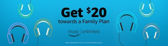 20 Credit Towards Amazon Music Unlimited Family Plan Centsable Momma