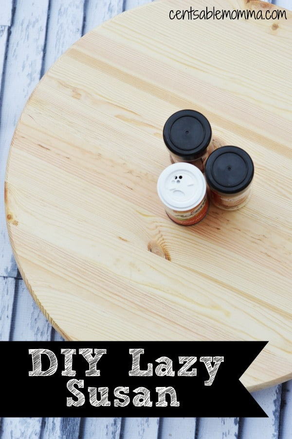 Have you ever thought of buying a Lazy Susan to make dinnertime easier? Don't buy one...but make one with this easy DIY Lazy Susan Tutorial. You don't need any special skills and the only tool you need is a drill.