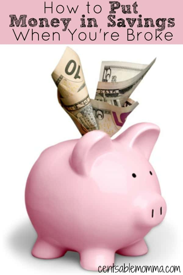 When you're broke and have no money, it can seem impossible to even get started saving any money. Check out these 5 tips for how to put money in savings when you're broke for some ideas on how to get started.