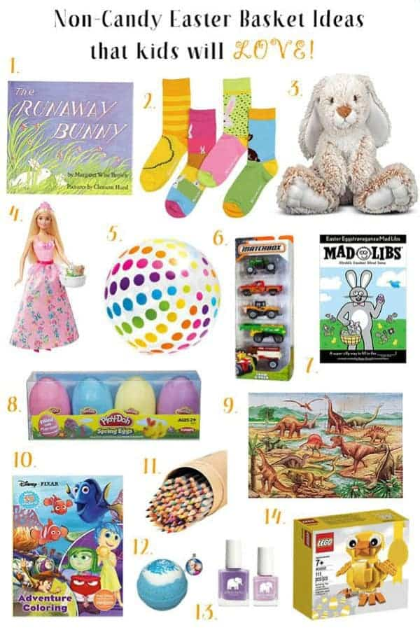 If you would rather your kids don't get a pile of candy for Easter, check out these 14 non-candy Easter basket gift ideas both boys and girls are sure to love.