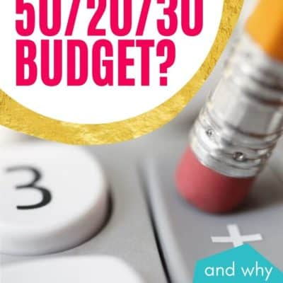 What is a 50/20/30 Budget and Why You Should Have One