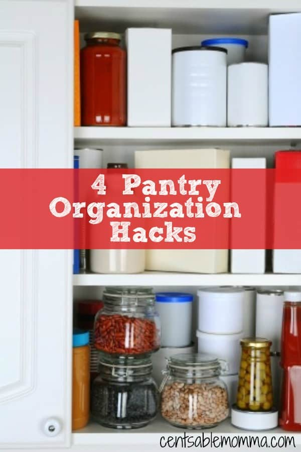 Whether your pantry is out of control or you're just looking for some tips to organize it even more, you'll want to check out these 4 Pantry Organization Hacks for some great tips.