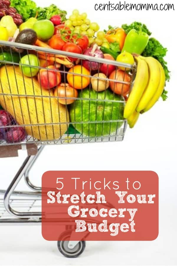 Whether you're feeding just you and your spouse or a large family, you don't want to spend too much money on your groceries.  Check  out these 5 tricks to stretch your grocery budget for tips on how to decrease the amount of money you spend on groceries.