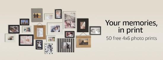 Amazon Prints: 50 FREE 4×6 Photos