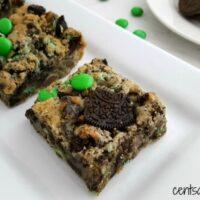 Mint Oreo M&M Cookie Bars Recipe