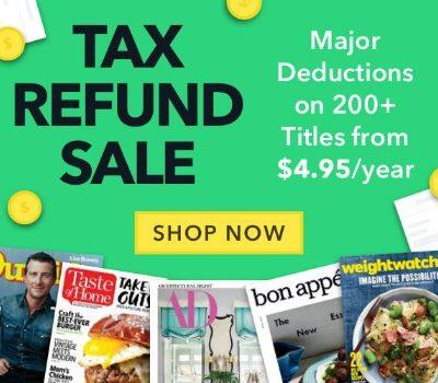 Tax Refund Magazine Sale