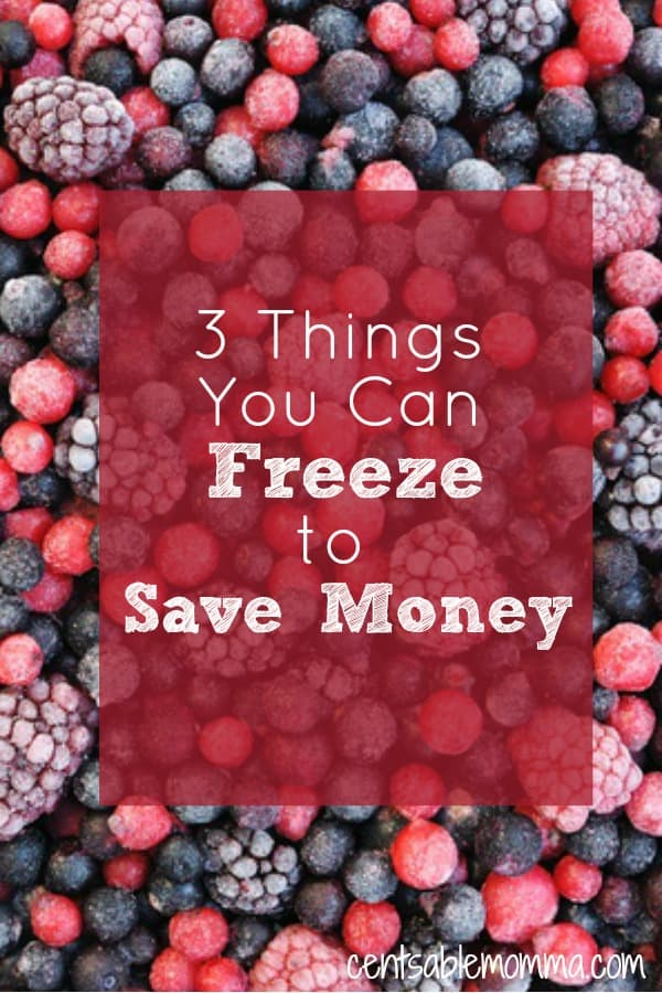 3 Things You Can Freeze to Save Money