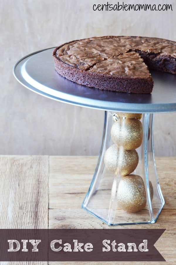 Create your own Cake Stand with this DIY Cake Stand tutorial with dollar store materials and crafting glue.  It's easy and cheap to make and perfect to adapt to all the seasons or party events.